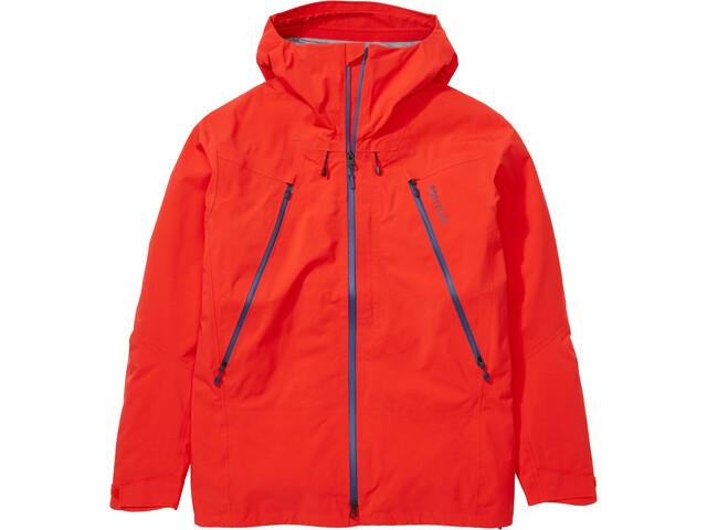 Marmot Alpinist Chaqueta Hombre, rojo